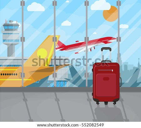 travel suitcases inside of