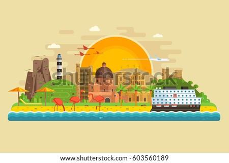 travel summer island landscape