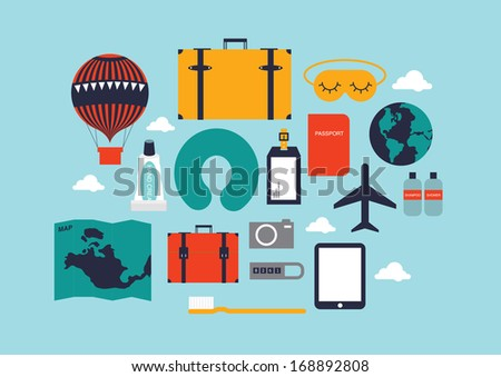 travel template vector/illustration