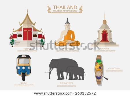 travel thailand vector
