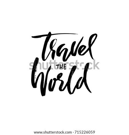 travel the world hand drawn