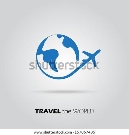 travel the world plane icon