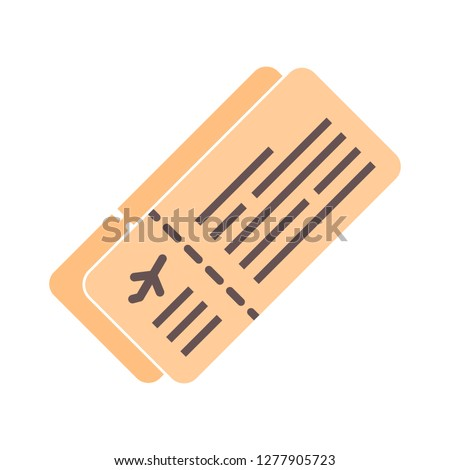 travel tickets icon - travel tickets isolated,trip ticket illustration - Vector tourism sign