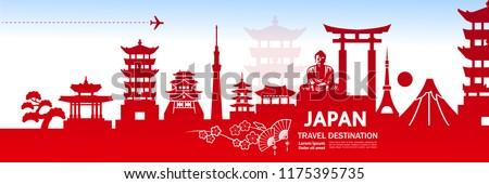 Travel To Japan Vector illustration.