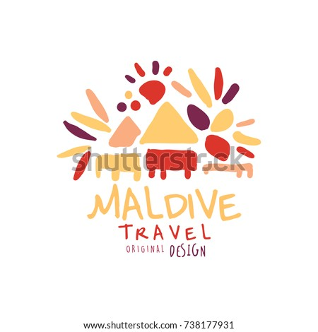 travel to maldive logo design