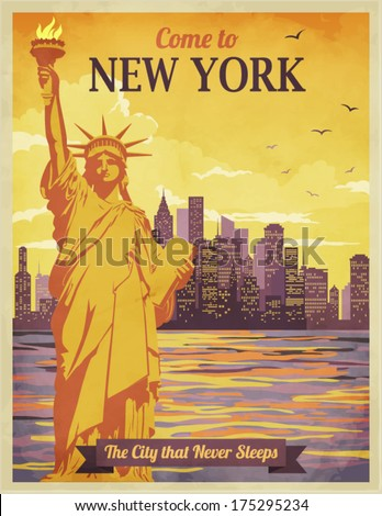 travel to new york poster  ...