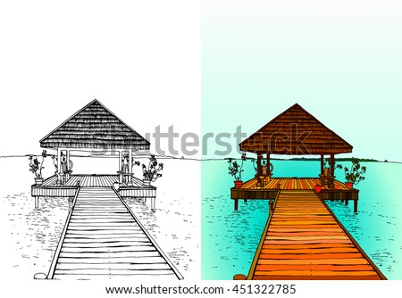 travel to the maldives  jetty