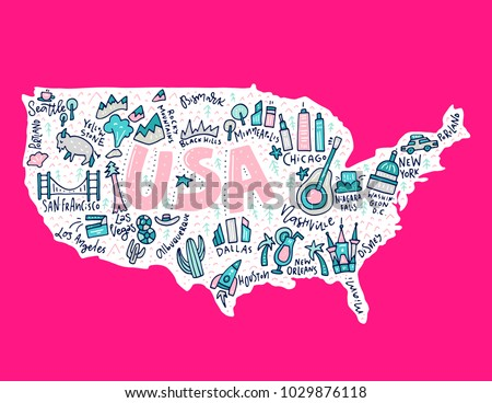 Cute Usa Map.Funny World Map Vector Download Free Vector Art Stock Graphics