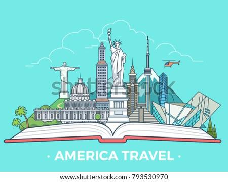 travel tourism type banner flat