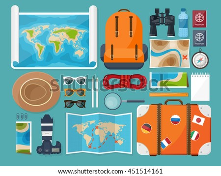 Vector images illustrations and cliparts traveltourism vector traveltourism vector illustration in a flat style travel bannermmer holidays gumiabroncs Images