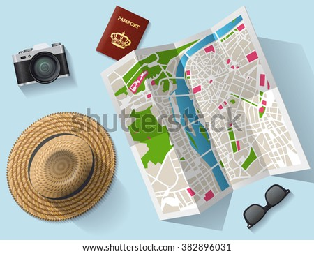 travel  tourist map and other