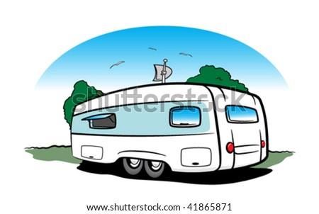 Trailer Camper Vectors