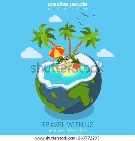 travel tropic island beach in