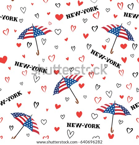 travel usa seamless pattern