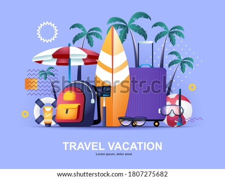 travel vacation flat concept