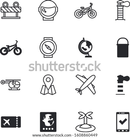 travel vector icon set such as