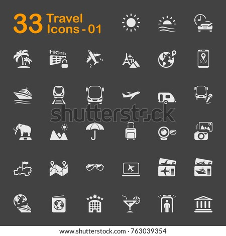 travel vector icons for mobile