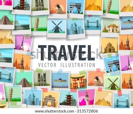 travel vector logo design