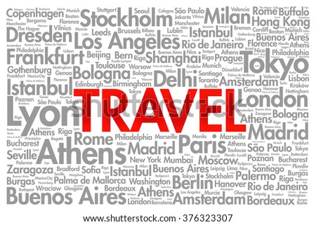 travel word cloud concept made