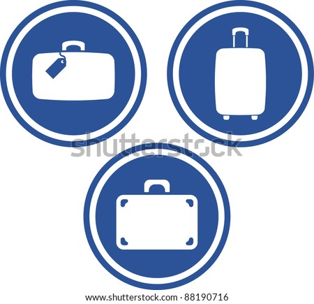 Traveling bags and luggage - Vector icons