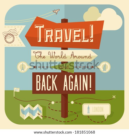 traveling illustration with...