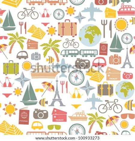 traveling pattern. seamless background