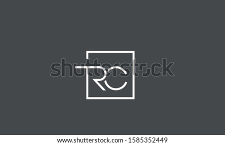 TRC,CRT,RTC,T,R and C alphabet monogram letters logo Stock fotó ©