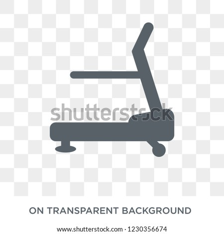 Treadmill machine icon. Trendy flat vector Treadmill machine icon on transparent background from Gym and fitness collection.