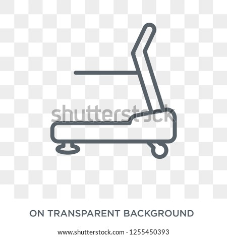 Treadmill machine icon. Trendy flat vector Treadmill machine icon on transparent background from Gym and fitness collection. High quality filled Treadmill machine symbol use for web and mobile