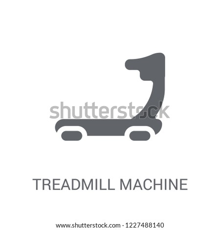 Treadmill machine icon. Trendy Treadmill machine logo concept on white background from Gym and Fitness collection. Suitable for use on web apps, mobile apps and print media.