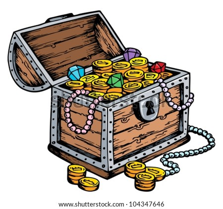how to make a paper flat treasure chest