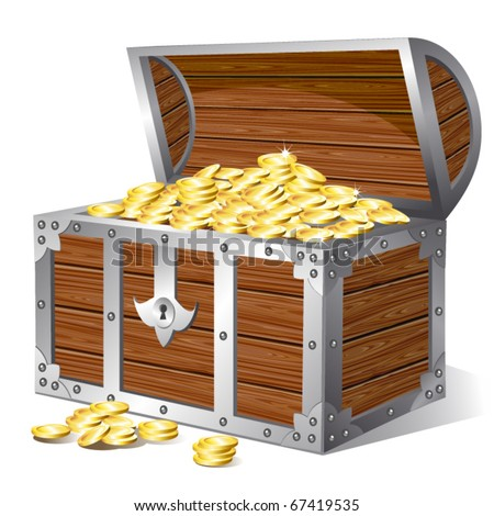 Treasure chest. Vector