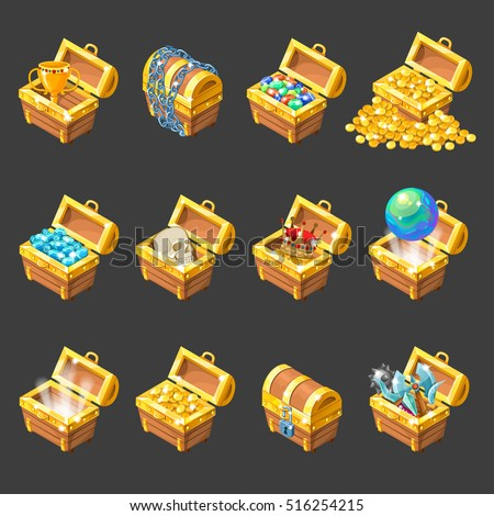 treasure chests isometric