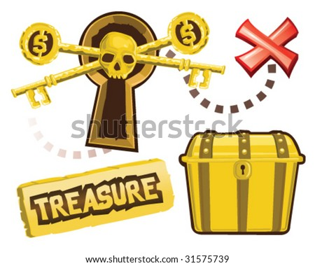 Treasure Icons - Vector Illustrations - stock vector