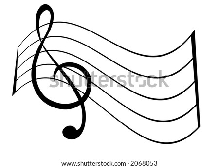 treble clef and bass clef. stock vector : Treble Clef and