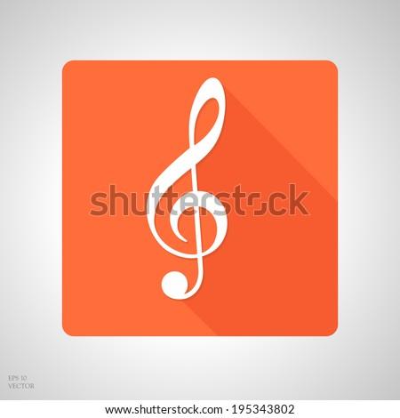 treble clef app icon