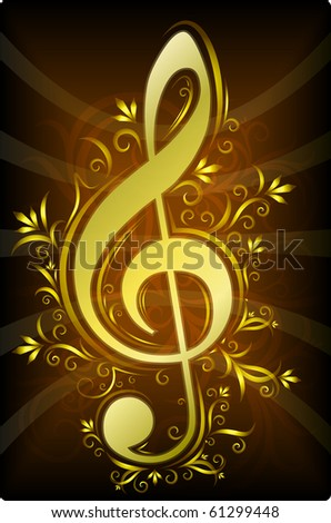 Treble clef for your design. EPS10