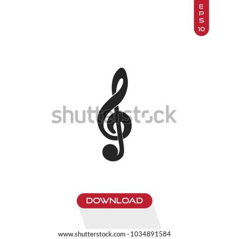 Treble clef icon