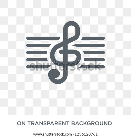 treble clef icon. treble clef design concept from  collection. Simple element vector illustration on transparent background.