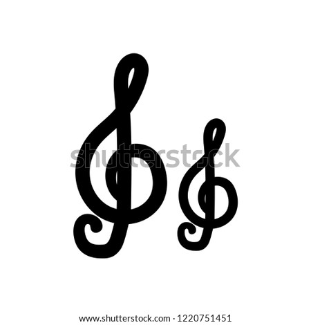 treble clef icon. Trendy treble clef logo concept on white background from Music collection. Suitable for use on web apps, mobile apps and print media.