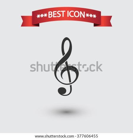 Treble clef icon vector