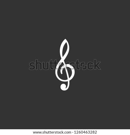 treble clef icon vector. treble clef sign on black background. treble clef icon for web and app
