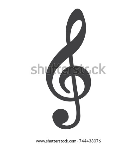 Treble Clef line icon, music and instrument, note sign vector graphics, a linear pattern on a white background, eps 10.