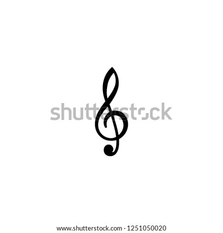 treble clef vector icon. treble clef sign on white background. treble clef icon for web and app