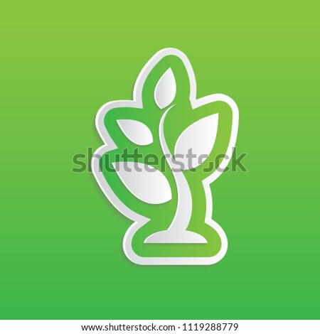 Tree and leaf icon vector design