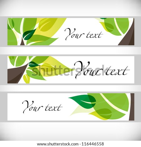 Tree banners. Vector illustration