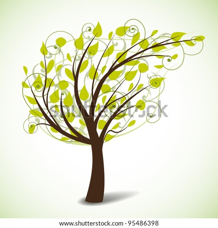 tree crown in the shape of a