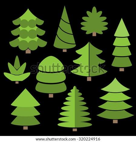 tree farm vector illustration
