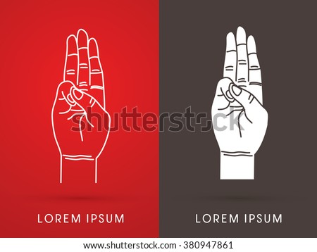 tree fingers  hand language