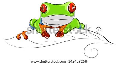 free cartoon green tree frog vector download free vector art rh vecteezy com cartoon red eyed tree frog cartoon tree frog images